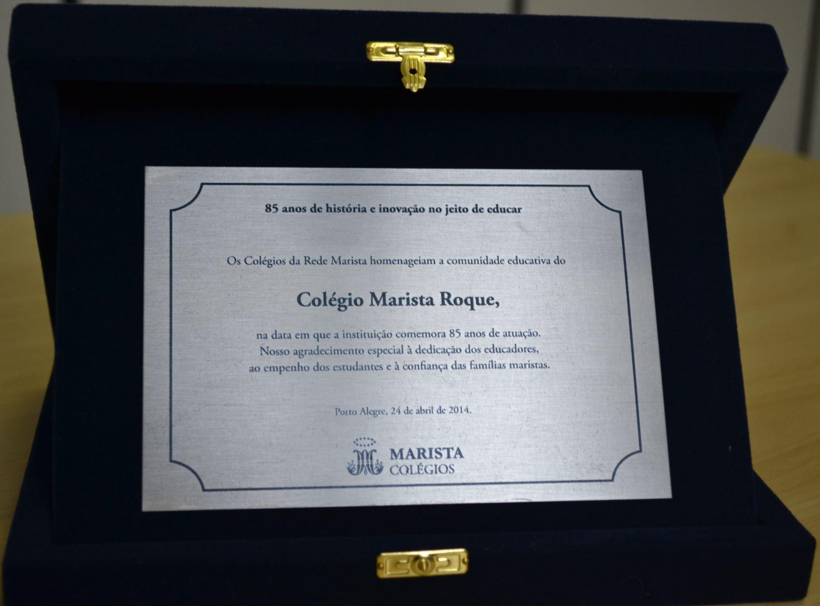 Mensagem para placa de homenagem