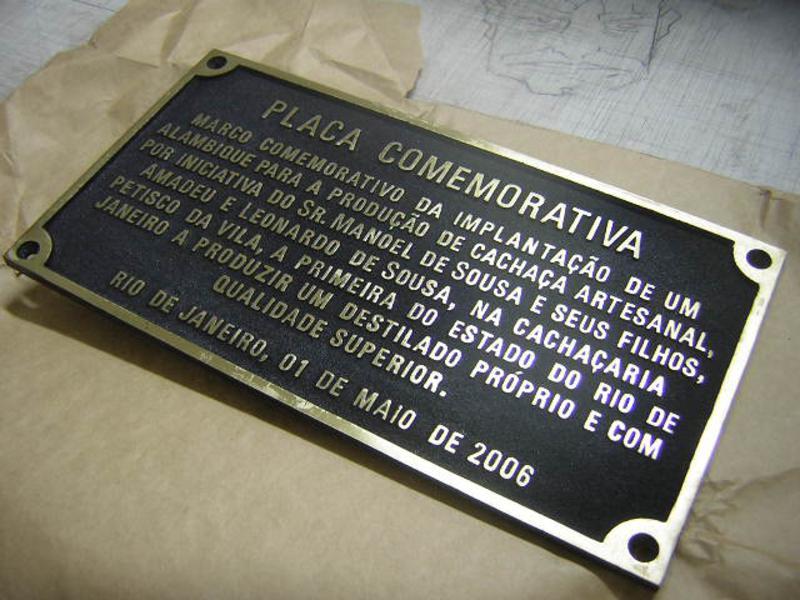 Bronze - Ideias para placas comemorativas